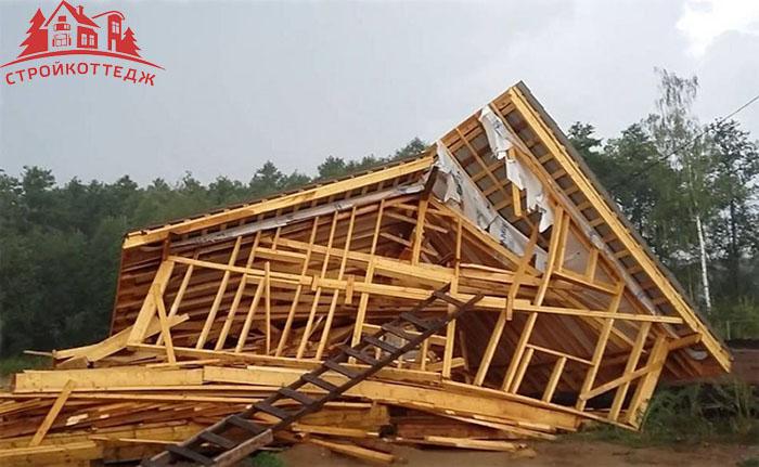 Дом развалился от некачественной закладки фундамента